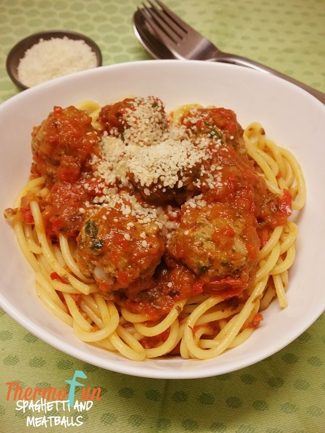 Thermomix Spaghetti + Meatballs