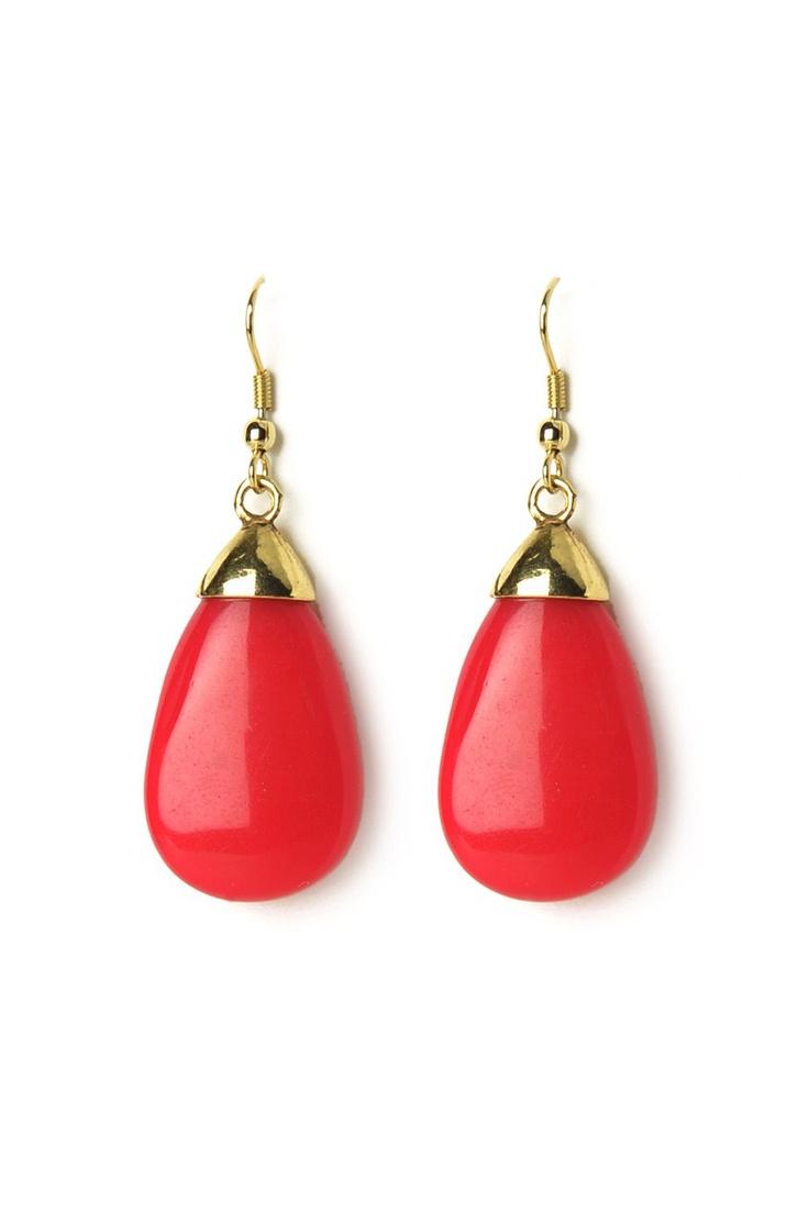 Pink Resin-g The Bar Earrings @ www.juvalia.in