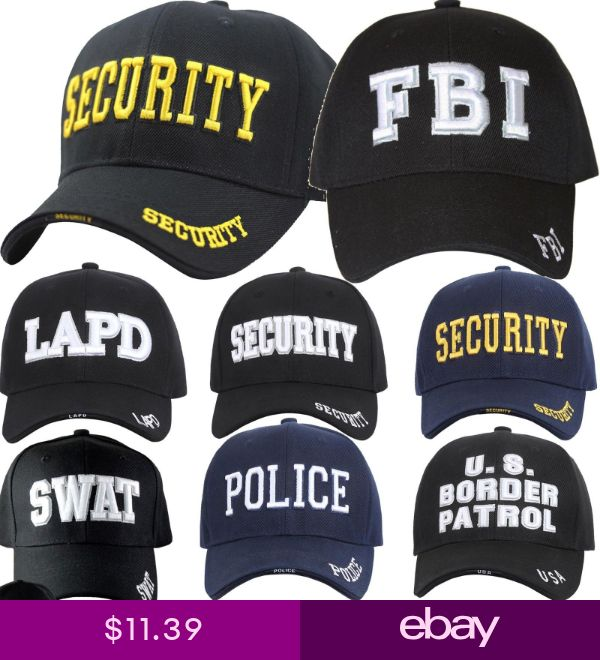 Baseball Cap FBI LAPD SWAT SECURITY US BORDER PATROL POLICE Navy Black Military