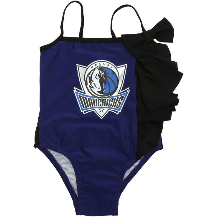 Dallas Mavericks Miss Fanatic Girls Toddler All Dolled Up Ruffle One-Piece Bathing Suit - Royal Blue