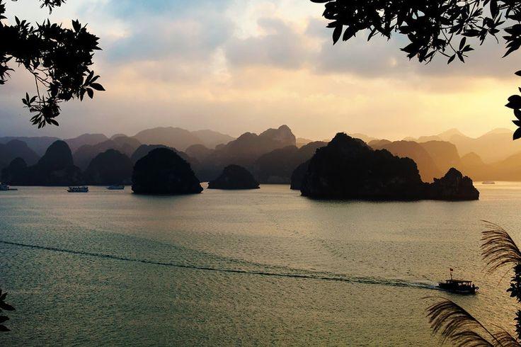 Ha Long Bay, Vietnam, Cruise, Amazing, Views, sunset