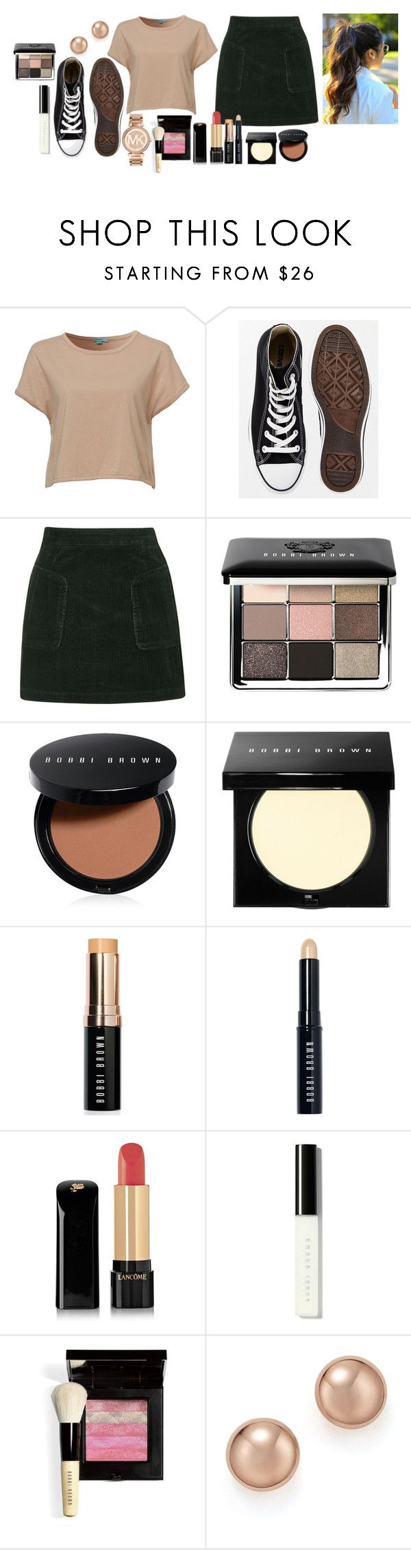 """Untitled #7509"" by gabriellewidger ❤ liked on Polyvore featuring Mavi, Converse, Topshop, Bobbi Brown Cosmetics, Lancôme, Bloomingdale's and Michael Kors"