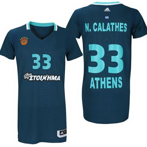 Basketball-Other 205: Panathinaikos Bc Basketball Jersey. 3Rd Jersey Adidas Size Medium Nick Calathes -> BUY IT NOW ONLY: $70 on eBay!