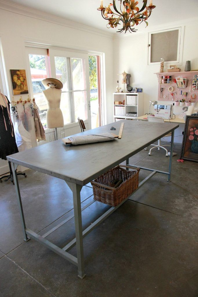 Sewing room industrial cutting table