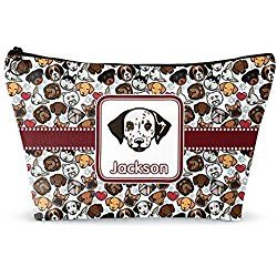 """Dog Faces Makeup Bag - Large - 12""""x8"""" (Personalized)"""