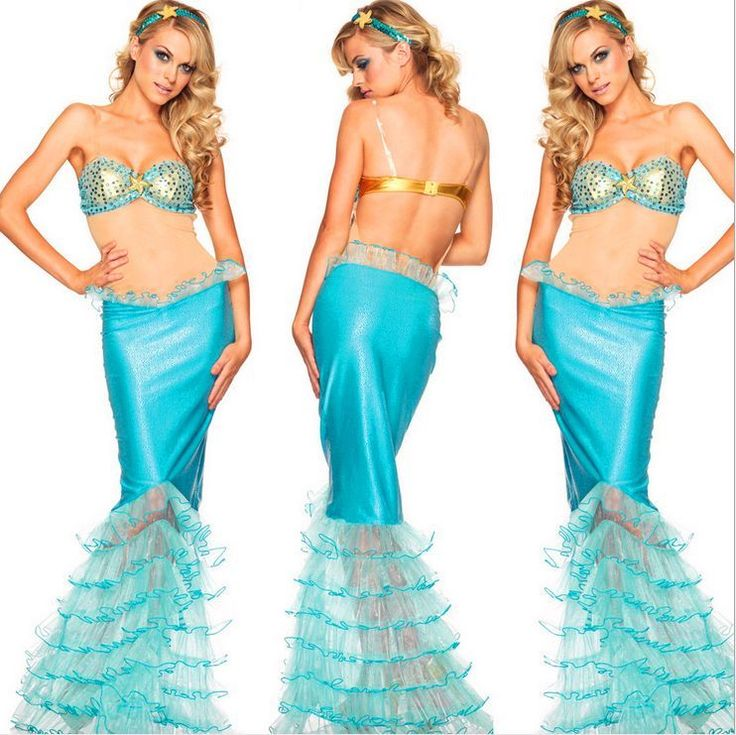 Sexy Womens Halloween Costume Mermaid Dress Girl Skirt Fancy Cosplay Party Bra #Unbranded #Dress