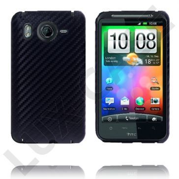Carbonite (Sort) HTC Desire HD Deksel