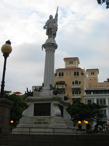 statue of Christopher Columbus in San Juan, Peurto Rico