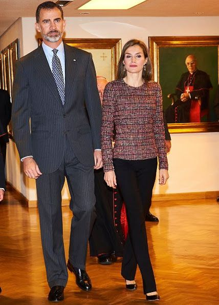 22 November 2016 - King Felipe and Queen Letizia visit the Spanish Episcopal Conference on its 50th anniversary in Madrid