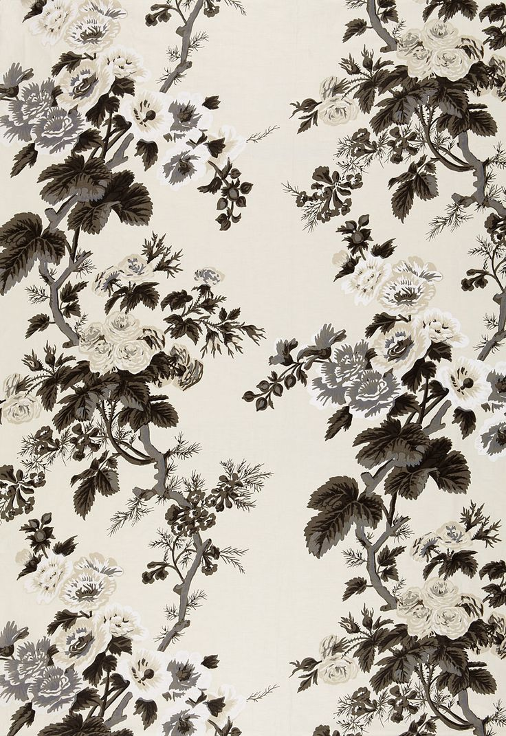 Pyne hollyhock print in charcoal 174450 http www for Schumacher chenonceau charcoal wallpaper