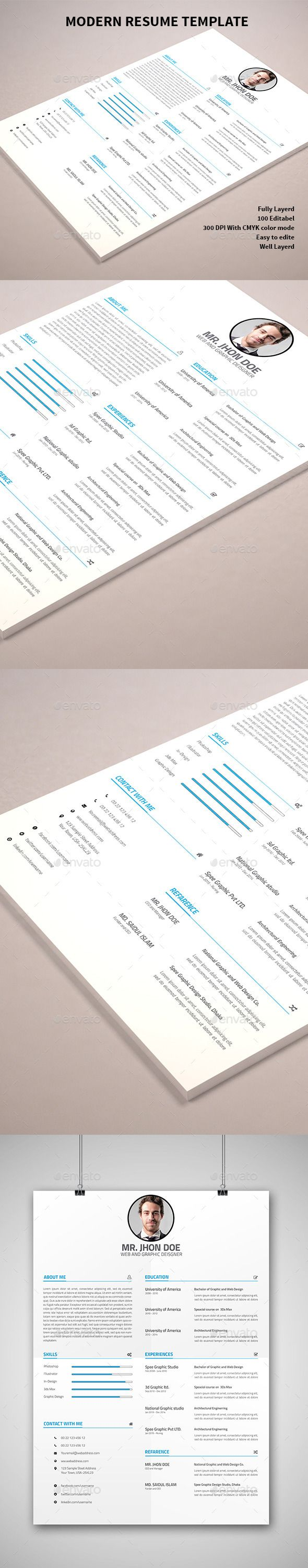 9 Best Resume CV Gallery Images On Pinterest