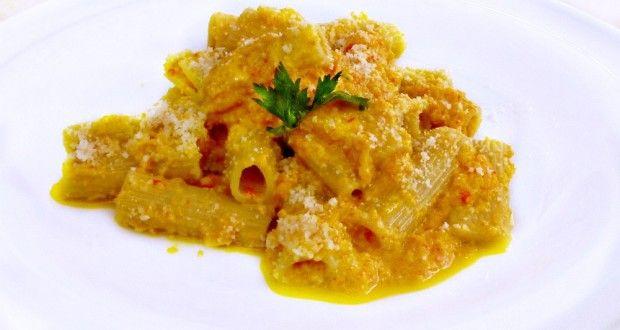 ριγκατόνι με κρέμα από πιπεριές: πορτοκαλί πανδαισία - Pandespani.com