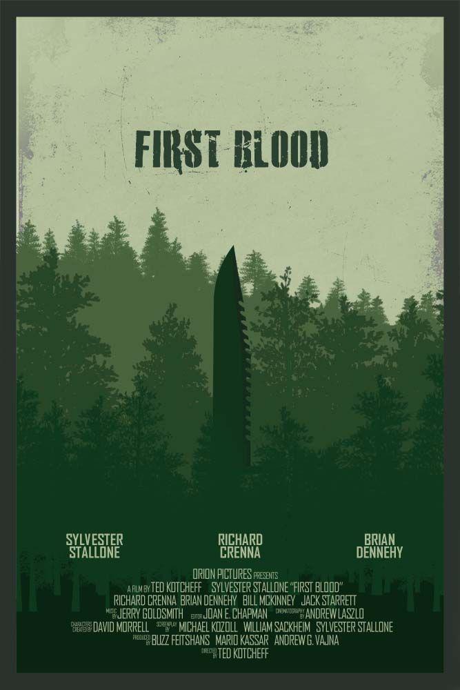 First Blood - movie poster - Edgar Ascensão
