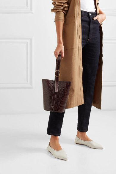 d7f3e80660 Trademark - Small Croc-effect Leather Bucket Bag - Brown in 2019 ...