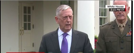 The 💩's about to hit the fan!   Defense Secretary GeneralJames Mattisissued a strong warning to North Korea on Sunday afternoon from outside the White House. Mattis said the rogue nation would ...