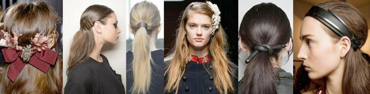 Прически для длинных волос с модными аксессуарами