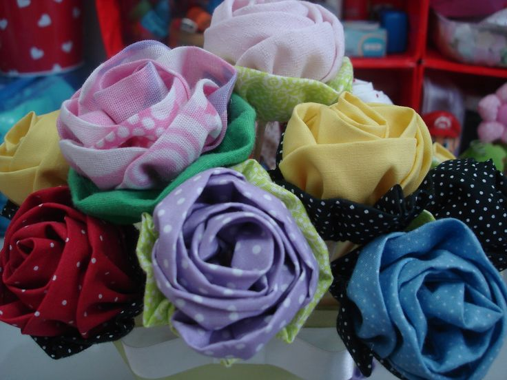 Rosas de tecido <3