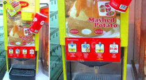7-11 Mashed Potato MachineVending Machines, Weird Inventions, Mashed Potatoes, Food, Potatoes Vending, Potatoes Dispeners, Blog, Crazy Inventions, Servings Mashed