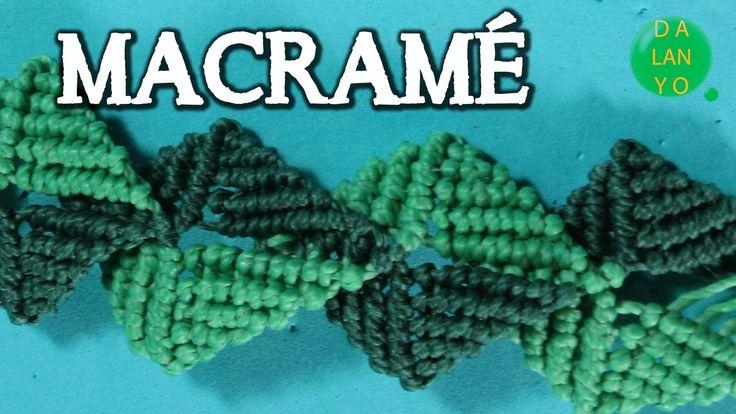 Brazalete Macramé escama| Bracelet flake