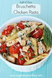 Bruschetta Chicken Pasta on MyRecipeMagic.com is a healthy and easy salad. Very delicious!