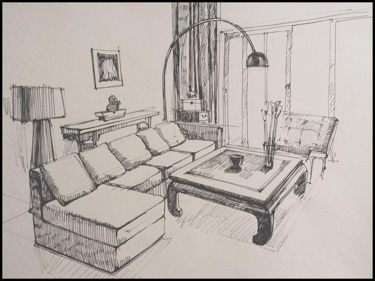 Inspirational Interior Design Pencil Drawing Interior Design