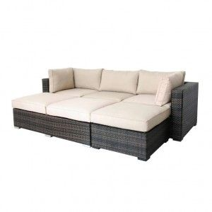 Santa Cruz Outdoor Rattan Modular Suite
