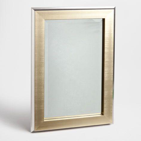 Espelho retangular borda dourada e prateada - 39,99€ Espelhos - Decoração | Zara Home Portugal