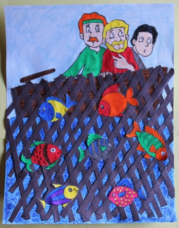 32 best images about z cc miraculous catch of fish on for Childrens sunday school crafts