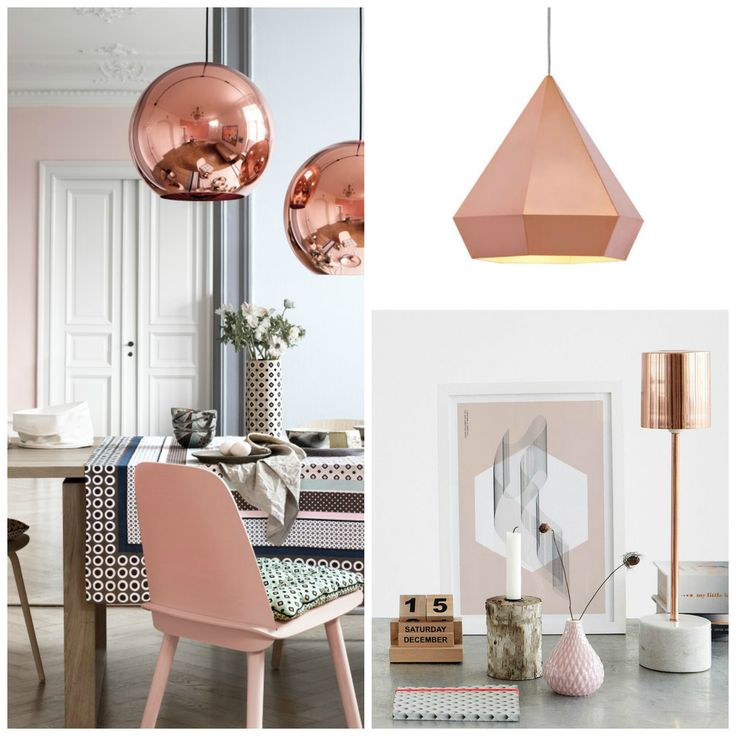 16 Rose Gold And Copper Details For Stylish Interior Decor: Rose Gold Lighting @PrettyPrudent
