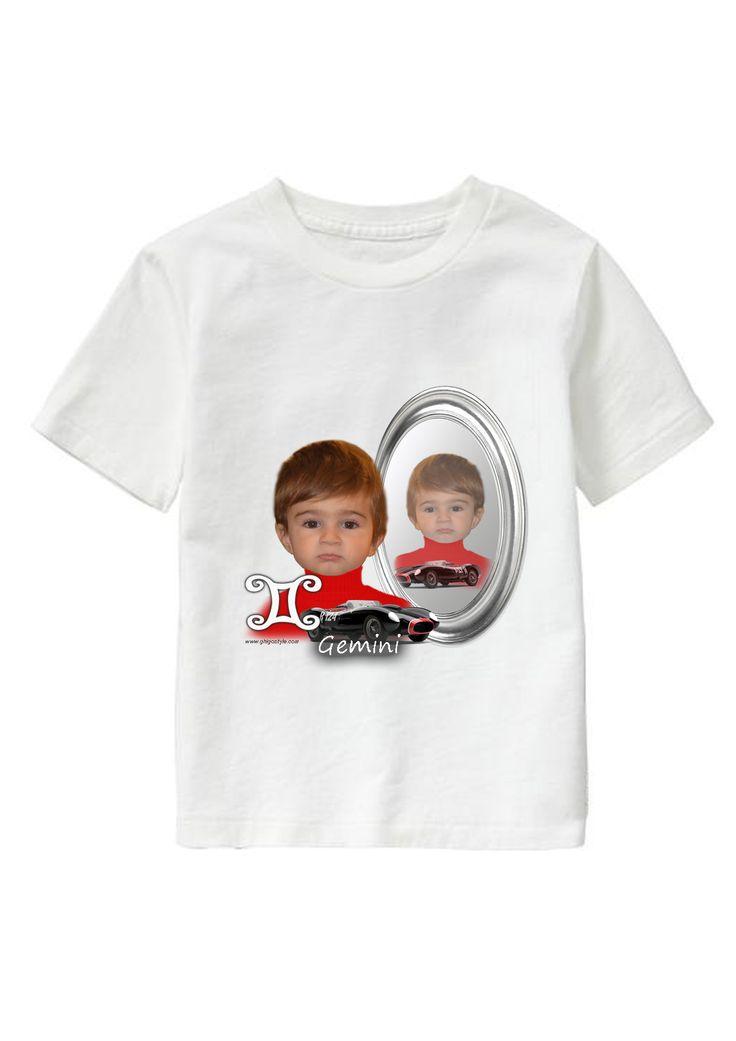 Gemini Boy personalized T-shirt www.ghigostyle.com