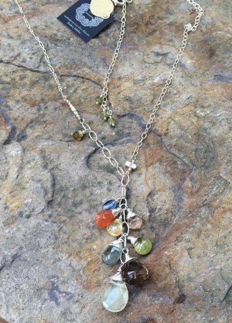 Gemstone Cascade Necklace
