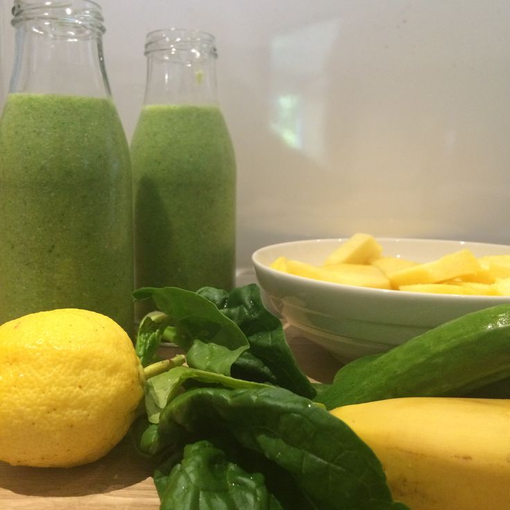 Weekend nourishing and hydrating #greensmoothie #dairyfree #nutfree #soyfree with cucumber, banana, pineapple, spinach leaves, coconut water (or just plain filtered water), organic lemon zest and juice from our own tree. Add some #chia seeds at the end for some powerful nutrition, protein and antioxidants.  #AllergyLogicApp #allergylogic #foodallergies #foodallergymom #dairyfree #nutfree