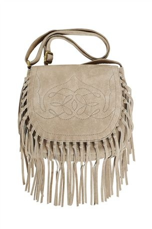 Sand Suede Western Bag