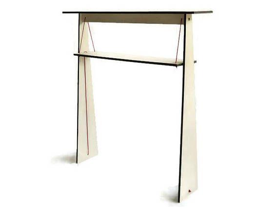 Laser cut wood narrow console tablefoyer tablewood entry