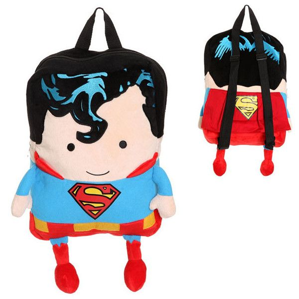 DC Comics Superman Plush Backpack (88 BRL) ❤ liked on Polyvore featuring bags, backpacks, backpack, superman, superhero, accessories, dc shoes, day pack backpack, superman backpack and dc shoes backpack