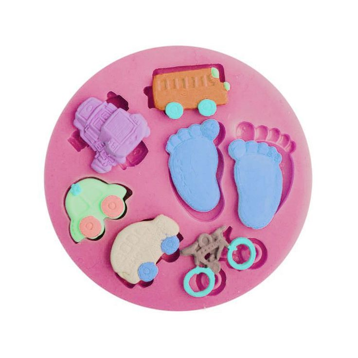 Baby foot and Traffic shape Silicone 3D Mold Cookware Dining Bar Non-Stick Cake Decorating fondant soap mold MK2048 #Affiliate