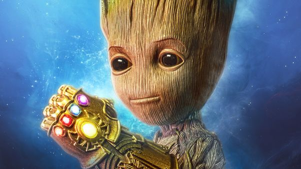 Baby Groot Gauntlet 4k Hd Superheroes 4k Wallpapers Images Wallpaper Pc Superhero Wallpaper Baby Groot