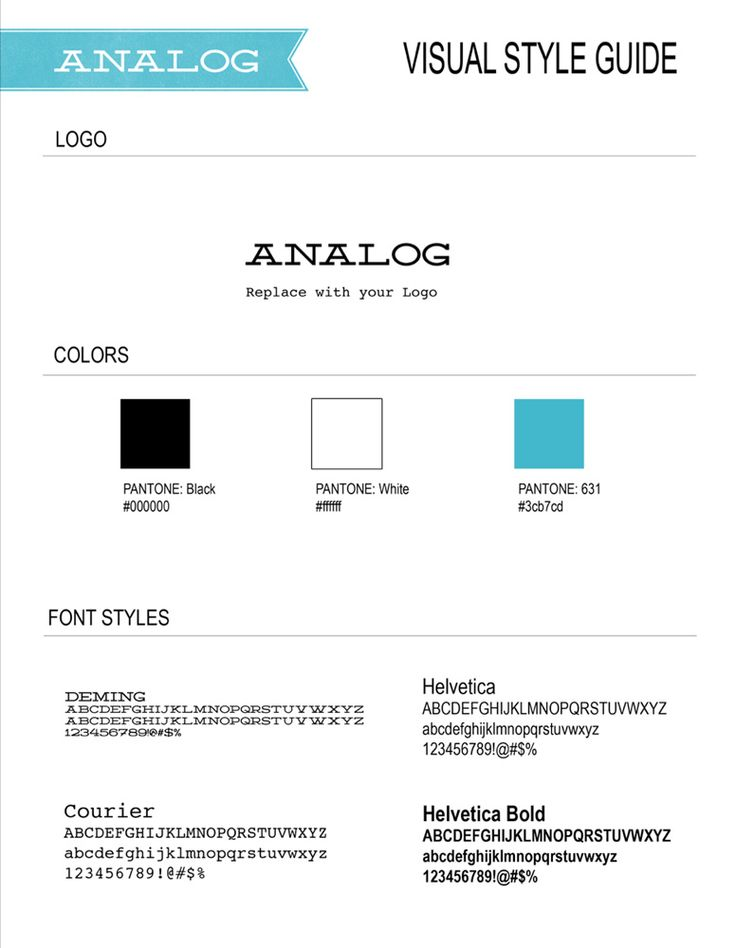 7 Best Images About Style Guide Templates On Pinterest | Logos
