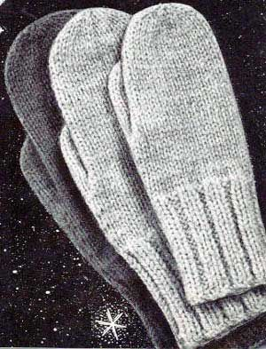 Classic Mittens - Vintage Pattern with endless size variations, for double points