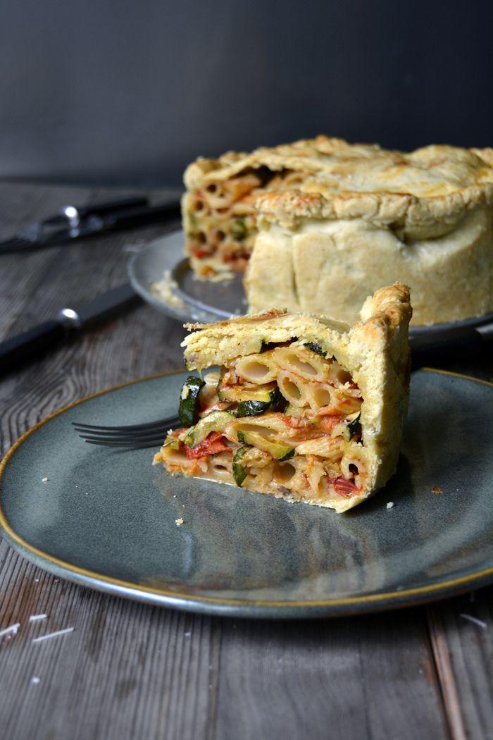Timpana – Maltese Pasta Pie with Zucchini and Aubergine ° eat in my kitchen