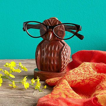 Look what I found at UncommonGoods: Owl Eyeglasses Holder for $24 #uncommongoods