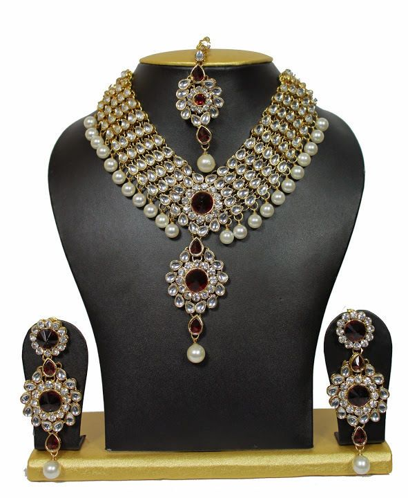Indian Fashion Jewelry Bollywood Bridal Gold Plated Cz: 46 Best Bollywood Necklace Set Images On Pinterest