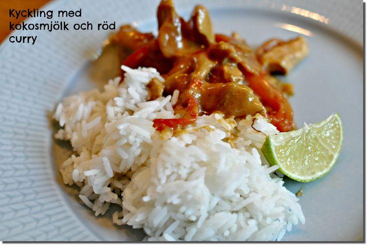 Kyckling med kokosmjölk och röd curry | Bambi