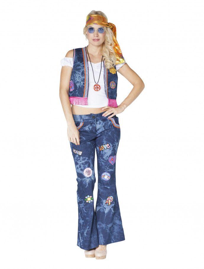4e60b1c721e2fb Hippie Kostüm im Jeanslook für den Karneval online kaufen » Deiters  hippie   flowerpower  outfit  jeans  Damen  kostüm  Kost…