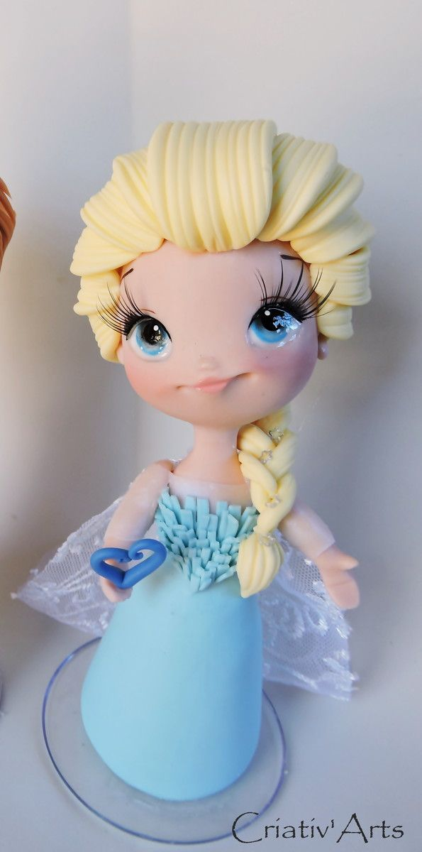 topo de bolo Elsa