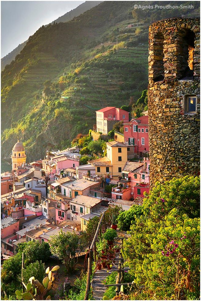 Vernazza, Cinque Terre, Italy by Agnes Proudhon Smith