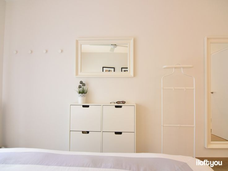 #iloftyou #interiordesign #barcelona #ikea #ikealover #ikeaaddict #sarrià #bedroom #white #malm #zarahome #faroiluminación #vesper #stall #hemnes