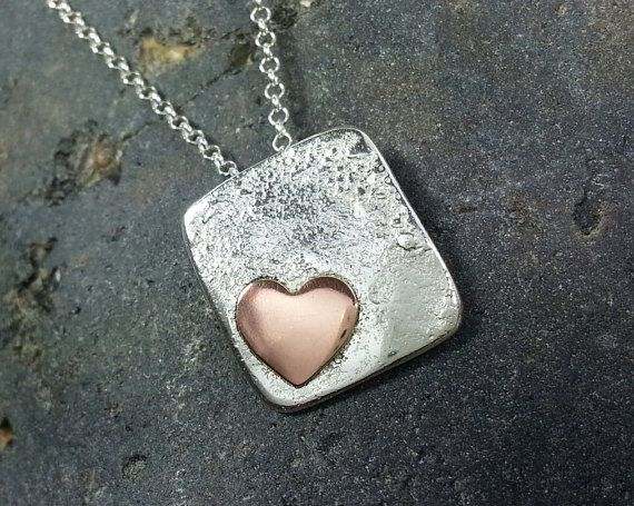 Sterling Silver Square Pendant / Necklace by SilverbirdDesignsUK