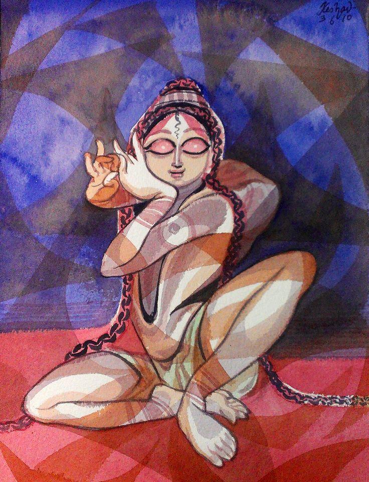 Krishna- New forever series. Watercolour.
