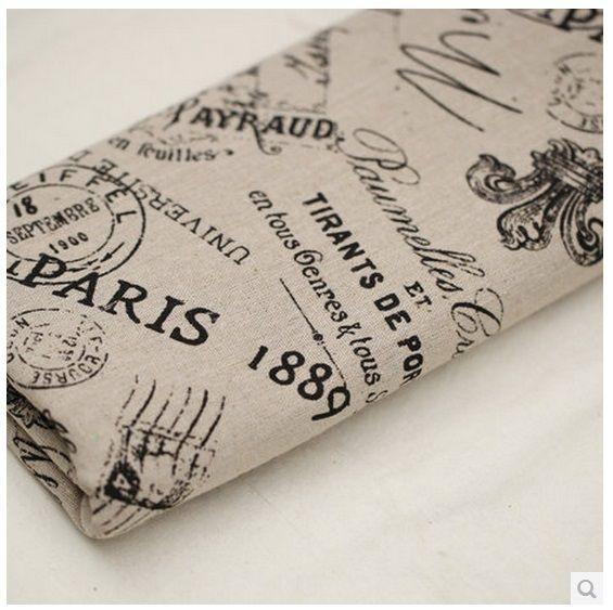 155cm (width), 1 meter,  Retail ZAKKA linen cotton fabric home textile Deco. DIY cloth - PARIS Crown